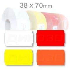 Стелажни етикети 38х70мм за рафтове и витрини