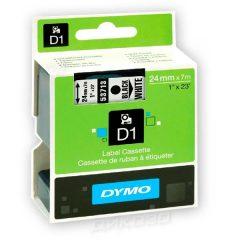 DYMO лента D1 Standart 24mm X 7m White