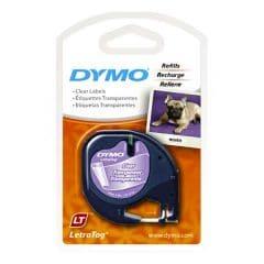 Прозрачна лента с етикети за принтер DYMO LetraTag 12ммХ4м
