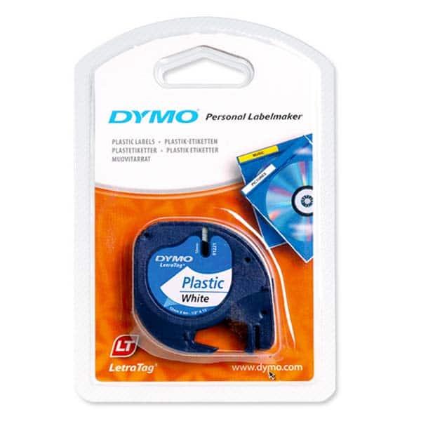 Lenta Dymo LetraTag 12mmX4m Plastic
