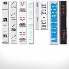 Печат на вътрешни текстилни етикети от тафта и сатен