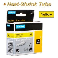 Dymo Rhino Heat shrink Tube 6mm Yellow 19mm