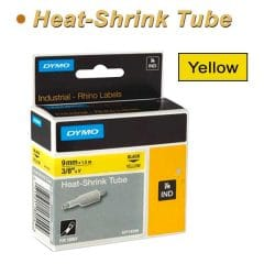 Dymo Rhino Heat shrink Tube 9mm Yellow
