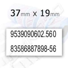 Етикети 37х19 бели